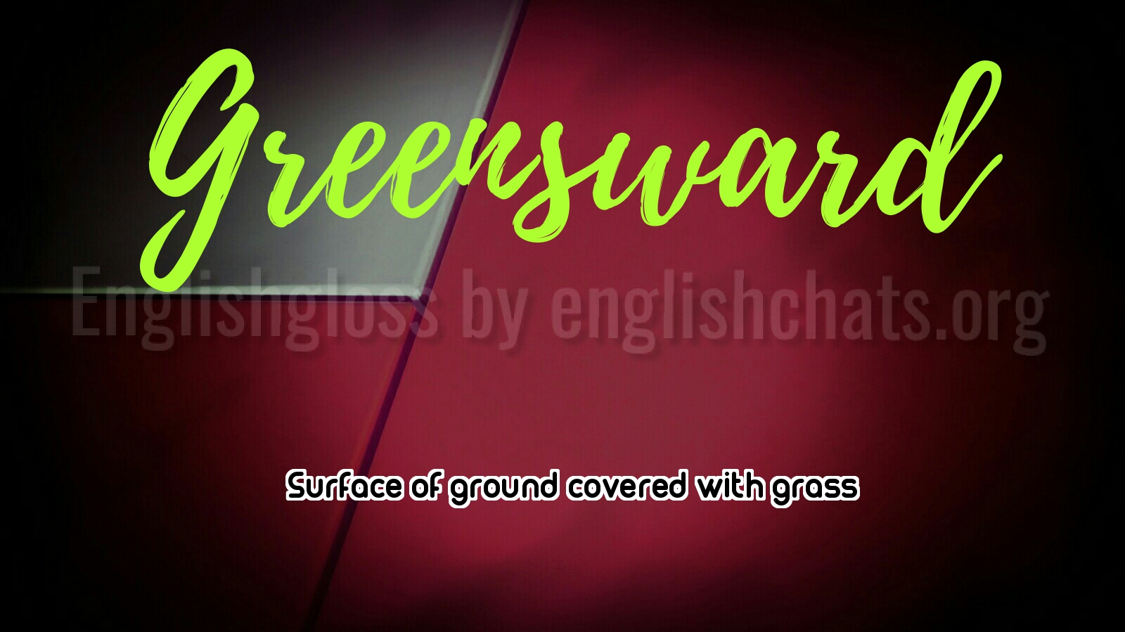 Word of the day- Greensward