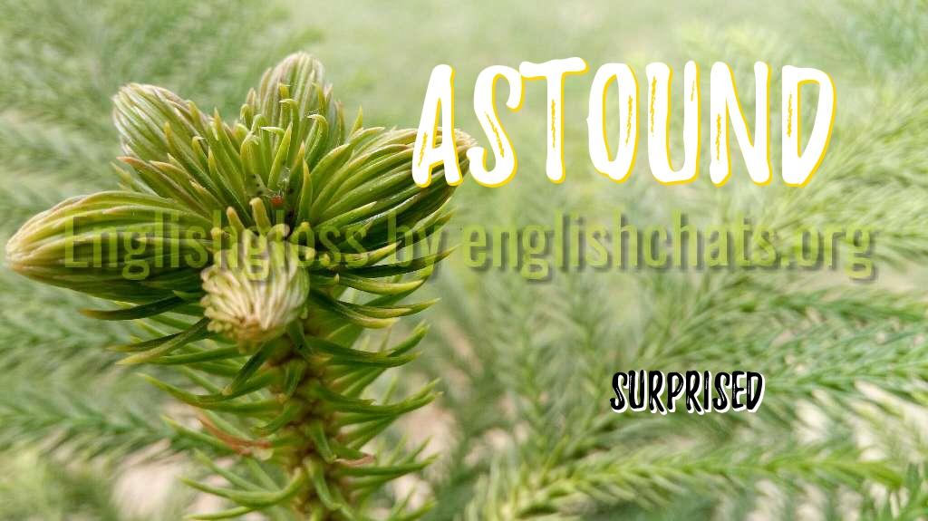 Word of the day- Astound